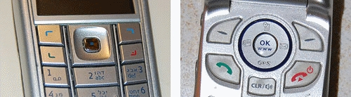 Cellular phone key comparison