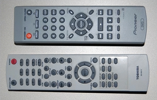 Remote control usability comparison