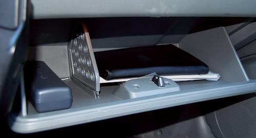 Divided Glove Compartment in Chevrolet Optra