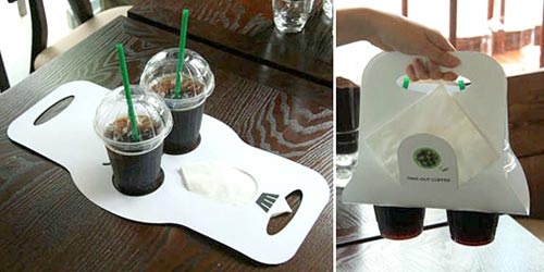 Cardboard coffee carrier