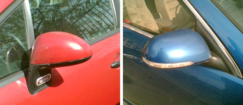 Side mirrors with turn signals