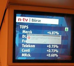 Berlin U-bahn Monitor with Windows error message