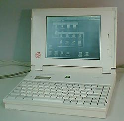 386 notebook with monochrome LCD scrreen