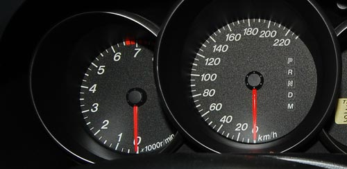Car Tachometer and Speedometer