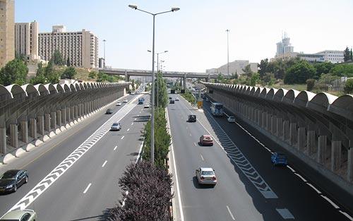 Begin Expressway, Jerusalem