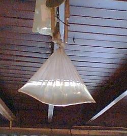 Water bag used to repel flies