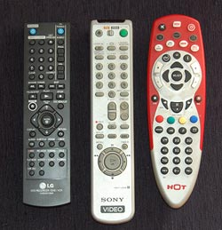 Three Remote Control units