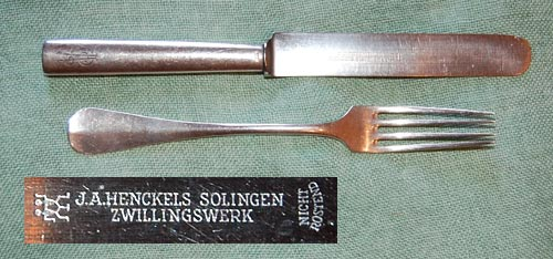 Early Solingen stainless steel tableware