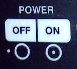 Critikon On Off power switch