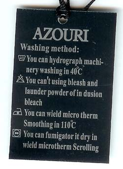 Engrish shirt tag by Azouri