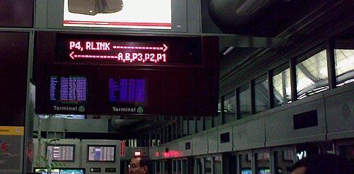 Newark Liberty Airport Airtrain sign