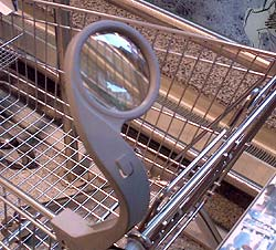 Magnifier on a Shopping Cart