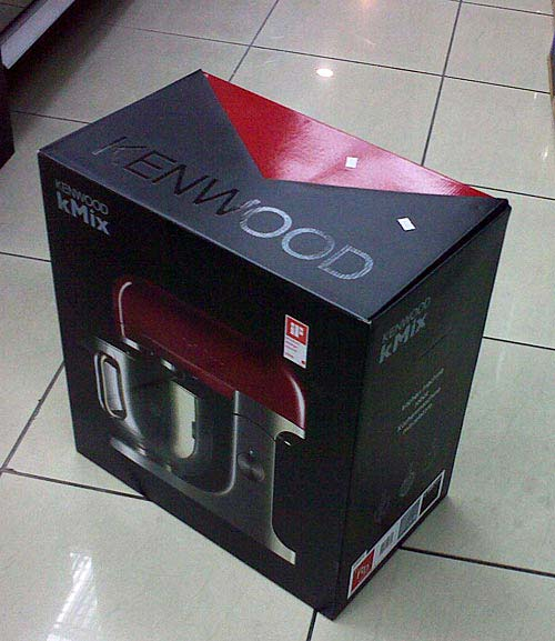 Kenwood mixer packaging