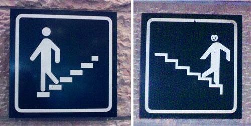 Stairwel signs