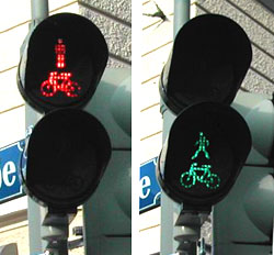 Pedestrian crossing light in Munich