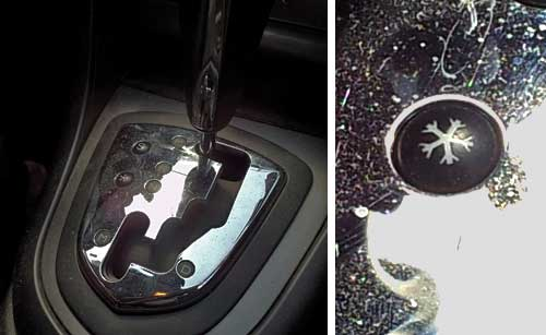 Peugeot 308 Snowflake button