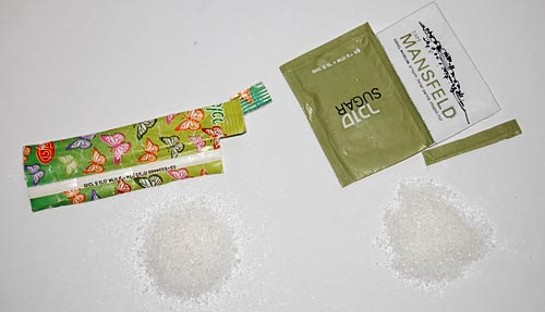 Sugar Packets - disassembled