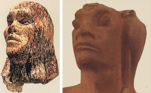 Danziger's Nimrod and the ivory head from Dolni Vestonice