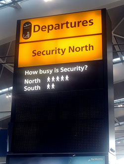 Heathrow Terminal 5 sign