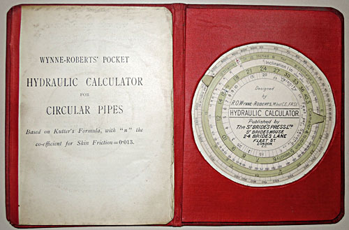 Wynne-Roberts' Hydraulic Calculator