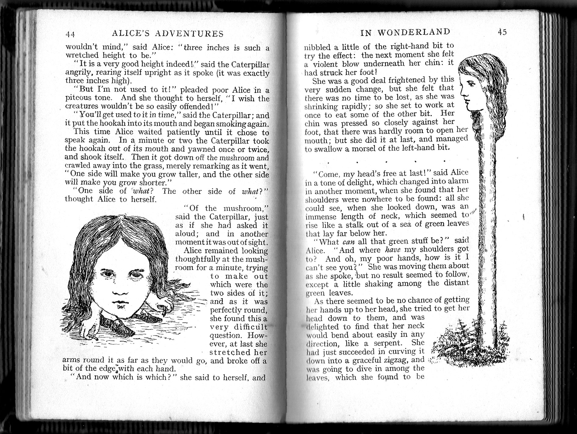 Alice images from Carroll's original drawings